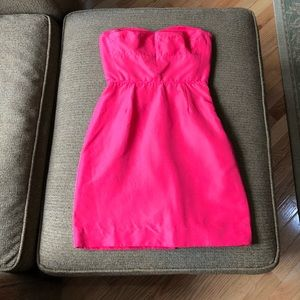 "J. Crew bright pink dress size 00 w/ 25"" length"